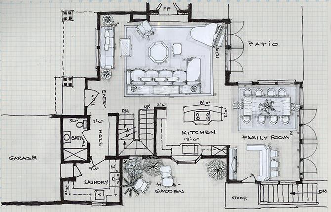 Interior Design Drawings Gallery Sketching Templates Stunning Drawing Interior Design Set