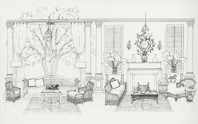 Interior Design Drawings | Gallery | Sketching Templates